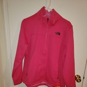 Pink Northface Zip-up